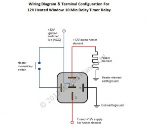 2 way switching wiring diagram toyota land cruiser 80 electrical 12v universal window heater timer relay | 12 volt planet